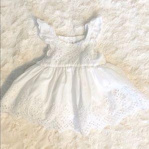 Baby Gap Newborn Girls Eyelet Flutter Dress